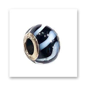 Sterling Silver & Glass Charm 4 PANDORA Bracelet